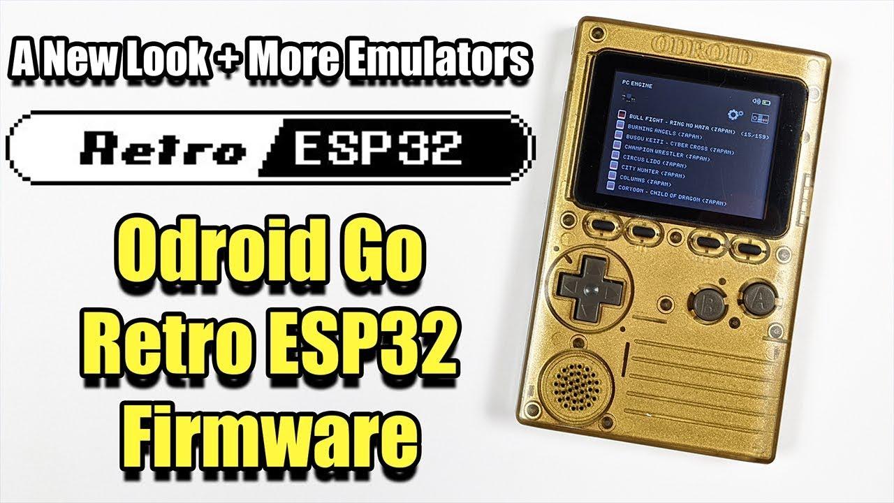 Retro ESP32 For The ODROID GO - A New Look + More Emulators