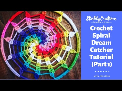 Crochet spiral dream catcher tutorial (part 1)