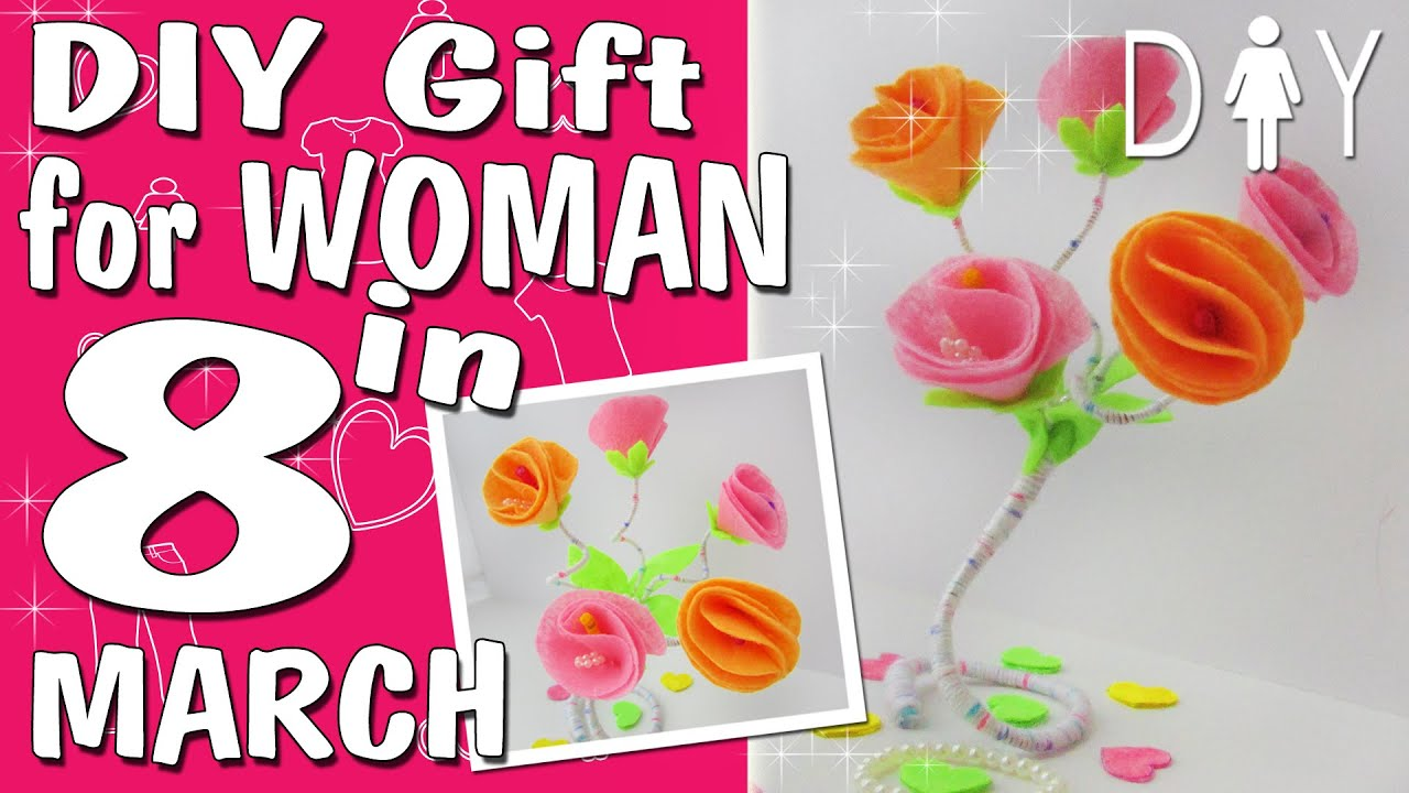 Beautiful Bouquet Gift For March 8 Diy Craft Youtube