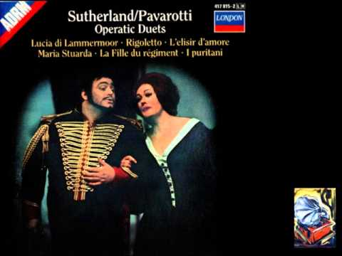Sutherland & Pavarotti. Duet. Rigoletto. Giuseppe Verdi.
