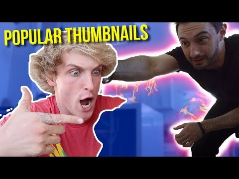 How to make Logan Paul Vlogger Thumbnails in Photoshop CC 2017 Tutorial - 동영상