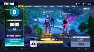 Fortnite remportant le tournoi mais n'obtenant pas la broche brillante