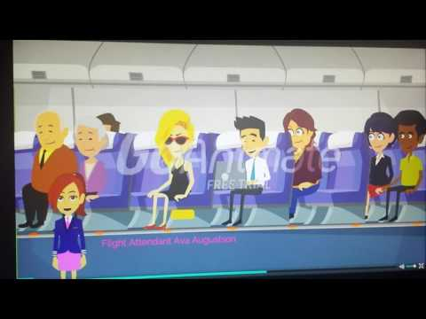 Oceanic Airlines New InFlight Safety Video Boeing 787-900/9/9X Aircrarft. ( Version 1 ).