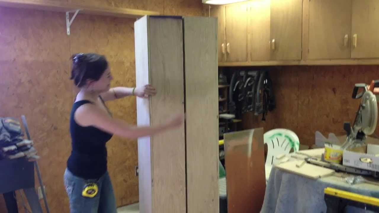 DIY Rolling Storage Cabinet - YouTube