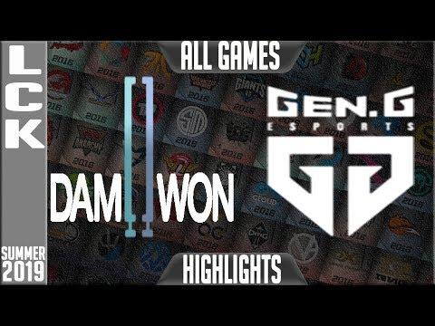 DWG vs GEN Highlights ALL GAMES | LCK Summer 2019 Week 10 Day 4 | Damwon Gaming vs Gen.G