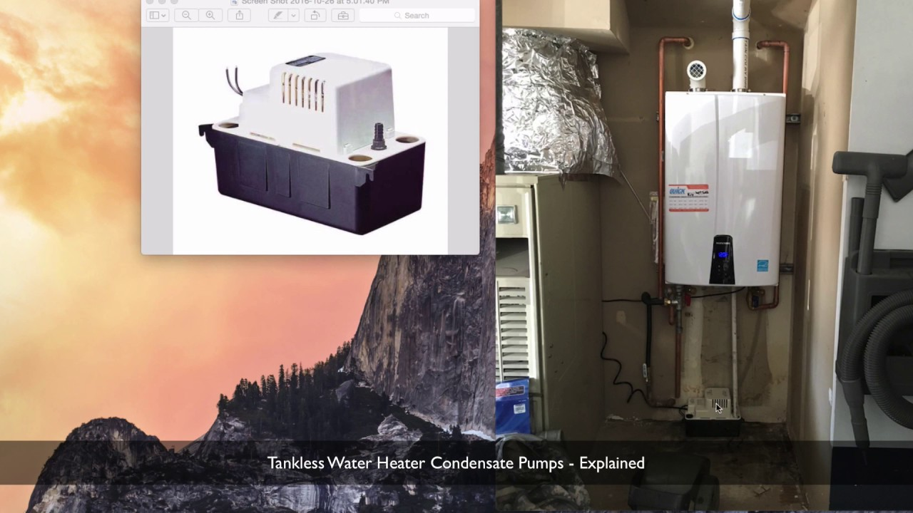 Tankless Condensate Pump Youtube