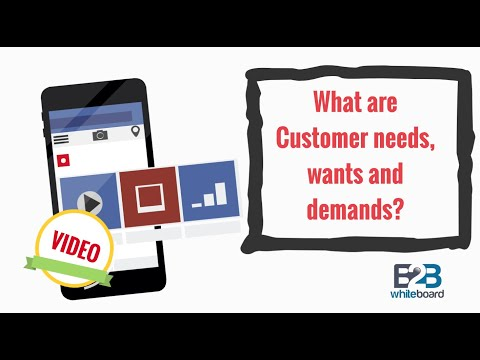 What are Customer needs, wants and demands?