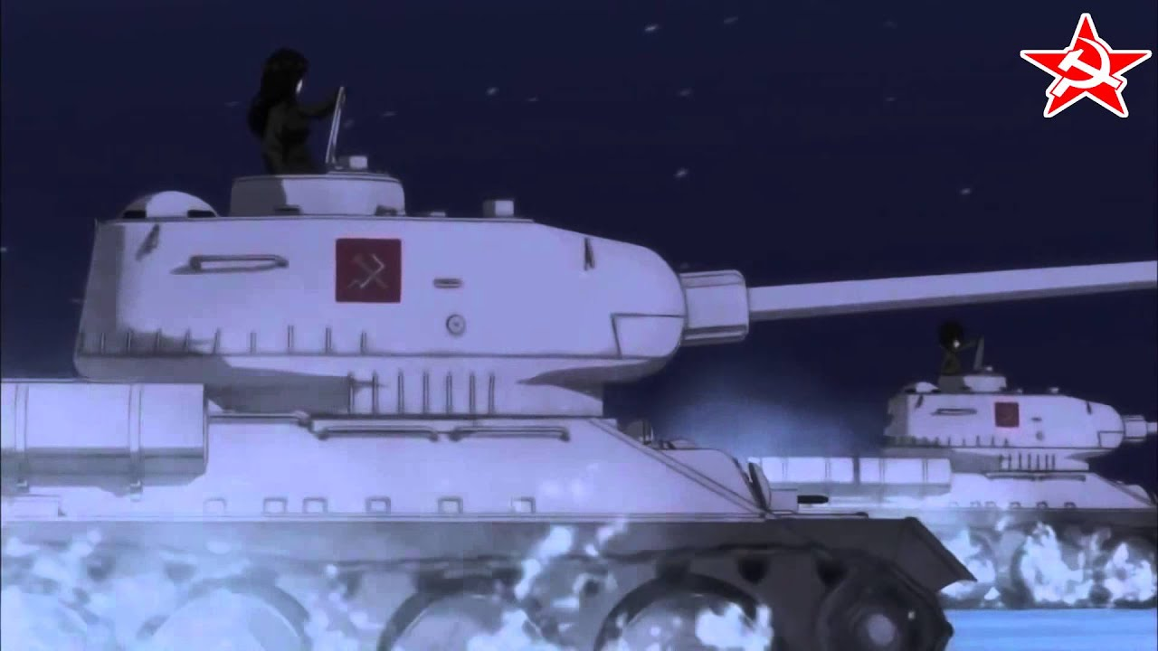 Live Wallpaper Girl Anime Girls Und Panzer Amv Pravda Hell March Red Alert 2 Youtube