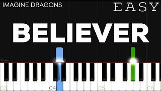 Download lagu Imagine Dragons - Believer | EASY Piano Tutorial