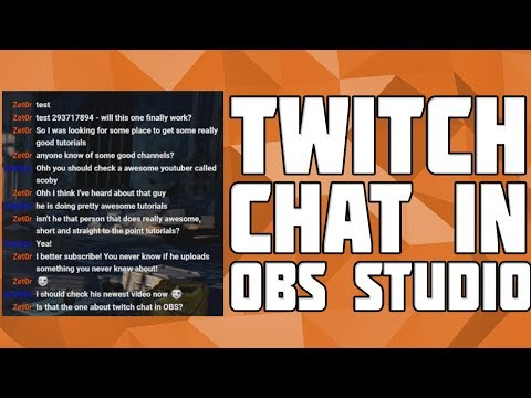How To Add A Twitch Chat Overlay In OBS! Twitch Chat On Stream! OBS Twitch Chat! Twitch Chat In OBS!