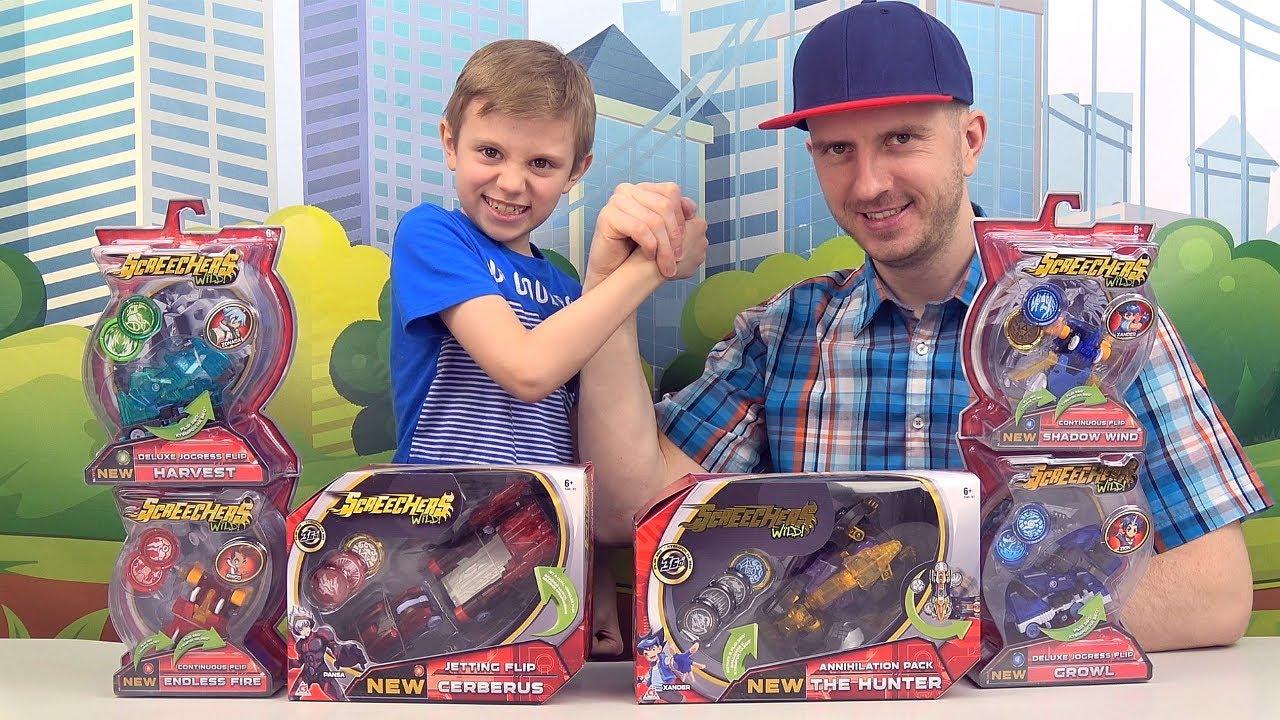 Дикие Скричеры - Новые Батлы!! Даник и папа играют в Машинки трансформеры Screechers Wild 2020!