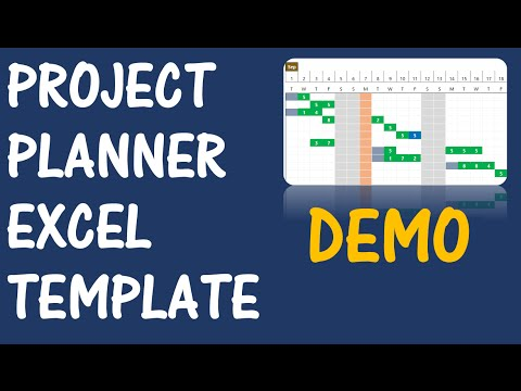 Project Planner (Advanced) - Excel Template - v2 - Product Demo