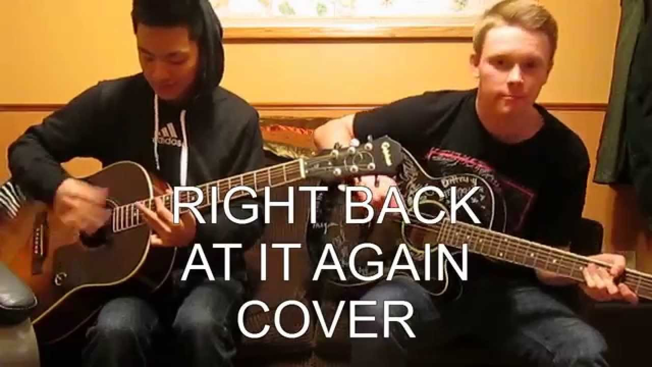 Right Back At It Again-A Day To Remember Acoustic Cover ... A Day To Remember Right Back At It Again