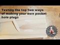 Make your own pocket hole plugs at home CHEAP!
