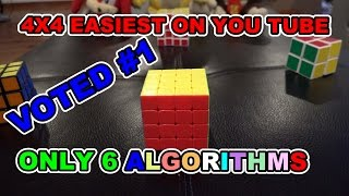 How to Solve 4x4x4 Rubik's Revenge Cube: Easiest Best Tutorial only 6 Algorithms in 4K Quality HD