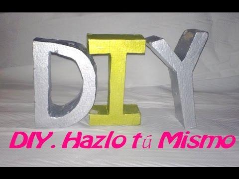 Diy c mo hacer letras decorativas con escayola f cil y - Como hacer letras decorativas ...