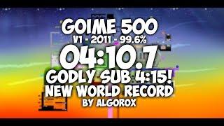 Goime 500 V1 Speedrun | 04:10.7 (WR)
