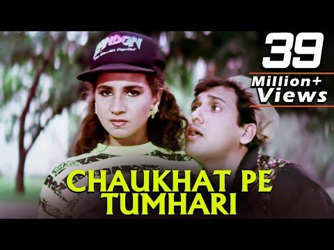 Chaukhat Pe Tumhari Hum   Full 4K Video Song   Govinda Chunky Pandey Rageshwari   Aankhen Song