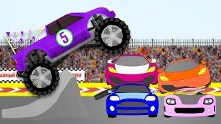 Веселые машинки, cars. Монстр-трак и цифры. Развивающие мультики для детей