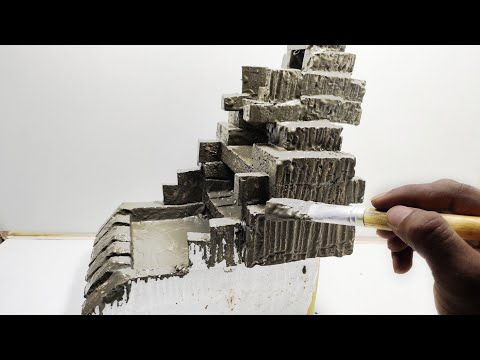Awesome Creative Idea With Cement   Cement WaterFalls   Cemented Life Hacks