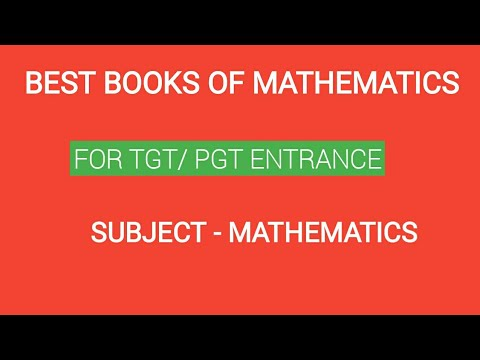 BEST BOOKS OF MATHEMATICS FOR TGT/PGT ENTRANCE