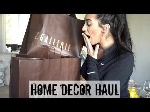 HOME DECOR HAUL 2017 | ZGallerie, HomeGoods, Ross + More