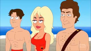 American Dad Roger Baywatch Lifeguard Compilation