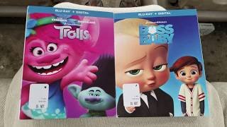 Trolls and The Boss Baby Blu-ray Unboxing from UPHE