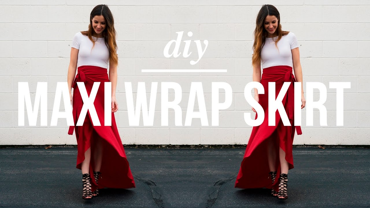 Long Maxi Wrap Skirt Youtube