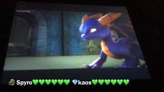 Spyro vs kaos Round 1 AND 2 with healthbars
