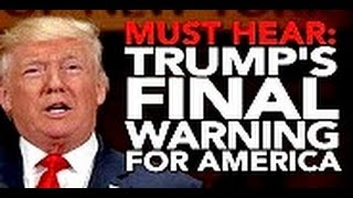 DONALD TRUMP WARNS of GLOBAL ECONOMIC COLLAPSE STORM CLOUDS BREWING ?