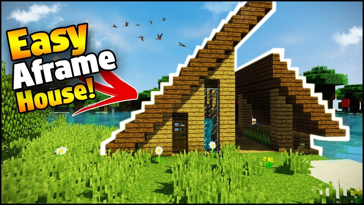 Minecraft: Easy A-Frame House Tutorial - How to Build a ...