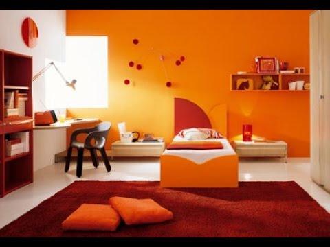 Sweet Orange Bedroom Design Luxury Interior Design