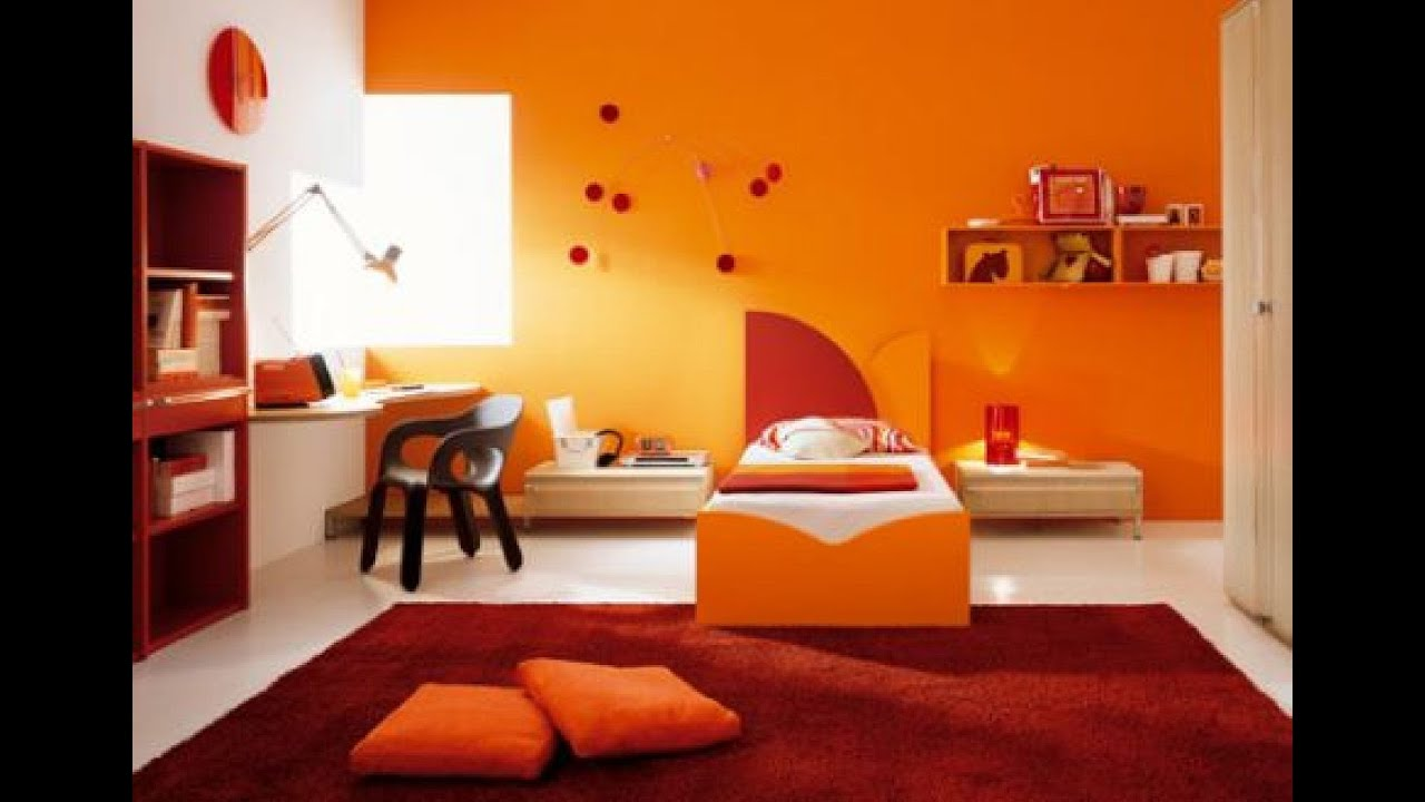 Sweet Orange Bedroom Design - [Luxury Interior Design] - YouTube
