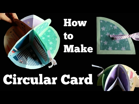How to make a Circular Card | Friendship Day Card |