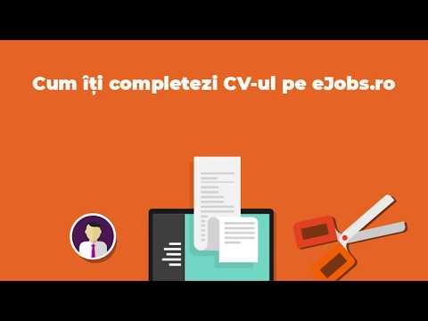 Cum îți completezi CV-ul pe eJobs.ro