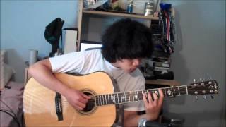 あの花 ano hana op aoi shiori galileo galilei acoustic guitar cover