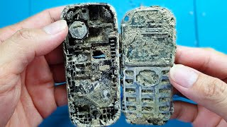 Restoration Nokia old phone | Restoring Broken Nokia 1280 Covered By Mud