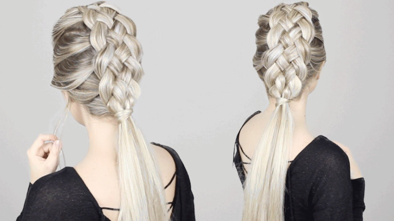 HOW TO: 5 STRAND BRAID Tutorial | Long Medium Length Hairstyles ...