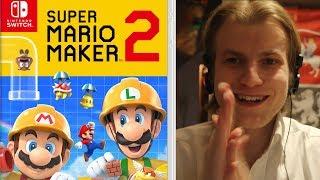 Super Mario Maker 2 Nintendo Switch Reaction!