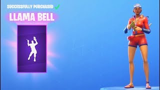 *NEW* Llama Bell Dance Emote (Fortnite Item Shop August 19)
