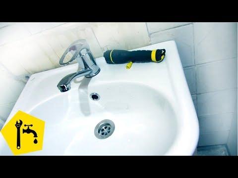 Установка раковины в ванную: установка и подключение крана смесителя и сифона