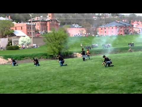 Civil war reenactment in Galena, Illinois