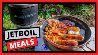 Camping Stove Meals. Cooking a full English breakfast with a Jetboil Minimo