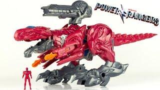 Power Rangers Zord Légendaire Deluxe Tyrannosaure Ranger Rouge Jouet Dinosaure Toy Review Megazord