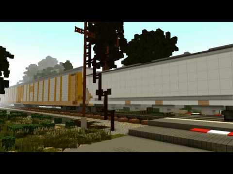 CSX mixed freight - Minecraft Animation