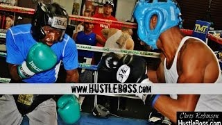 Joseph Agbeko sparring Leon Spinks III ahead of Guillermo Rigondeaux clash [Camp Highlights]
