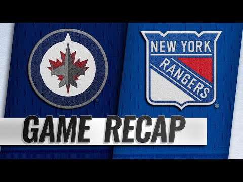 Jets rally in 3rd to beat Rangers in shootout, 4-3