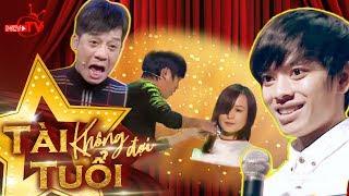 """""""Con trai Minh Nhí"""" vừa hát vừa cắt tóc """"lừa tềnh"""" giám khảo"""