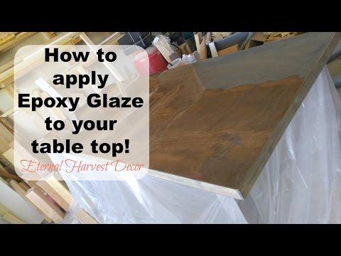 Epoxy Resin Super Glaze table top